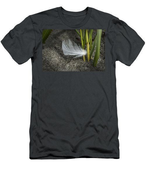 Feather And Beach Grass Men's T-Shirt (Athletic Fit)