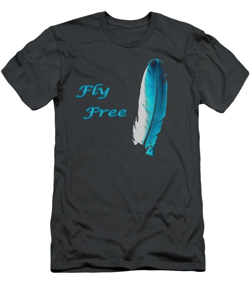 Men's T-Shirt (Slim Fit) featuring the digital art Feather Of Free Flight by Aliceann Carlton