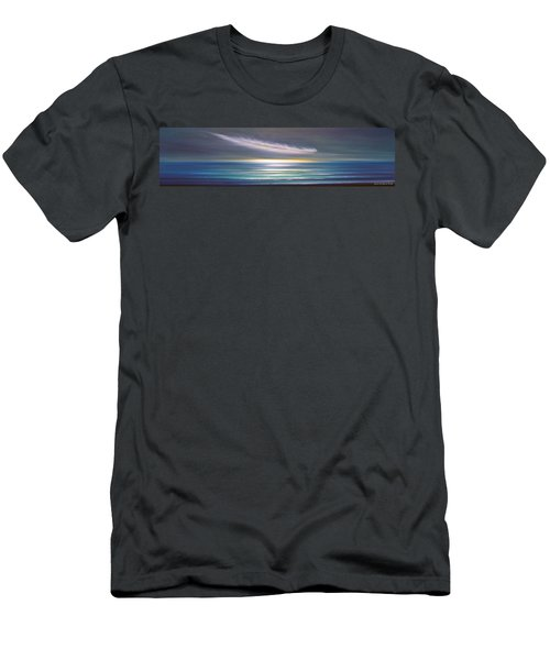 Feather Panoramic Sunset Men's T-Shirt (Athletic Fit)