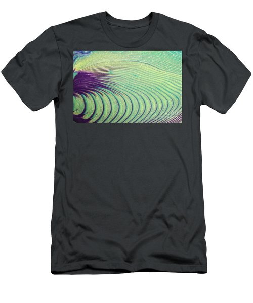 Feathery Ripples Men's T-Shirt (Slim Fit) by Julie Clements