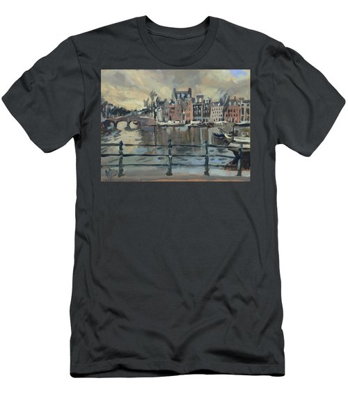 February Morning Along The Amstel Men's T-Shirt (Athletic Fit)