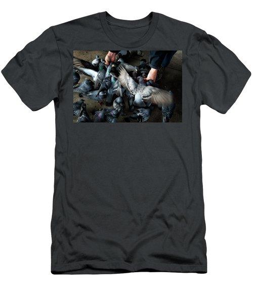 Feeding Men's T-Shirt (Slim Fit) by James David Phenicie