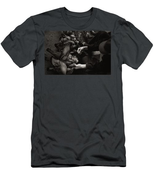 Feeding The Pigeons Men's T-Shirt (Athletic Fit)