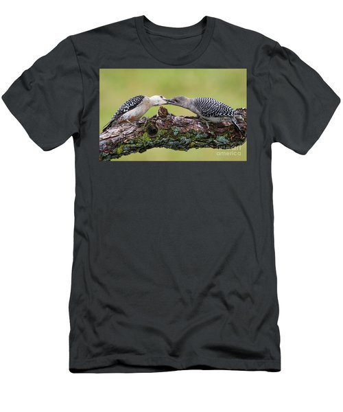 Feeding Time Men's T-Shirt (Slim Fit) by Ricky L Jones