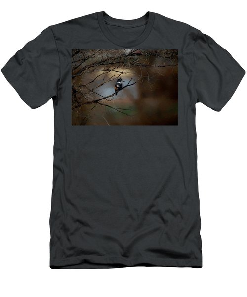 Men's T-Shirt (Slim Fit) featuring the digital art Female Belted Kingfisher 3 by Ernie Echols