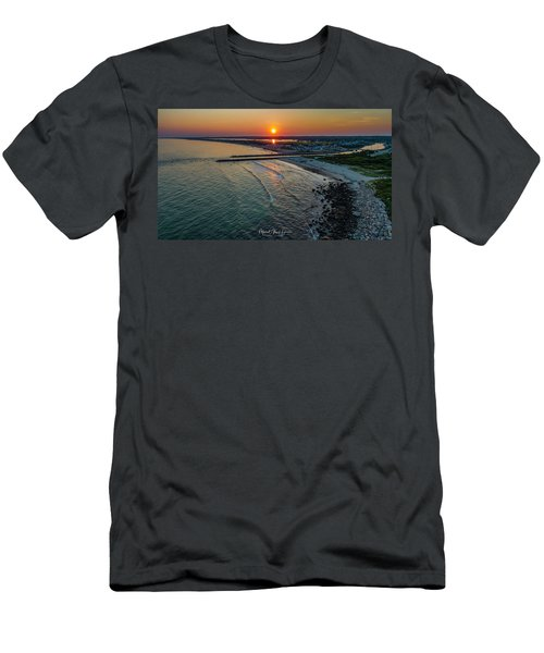 Men's T-Shirt (Athletic Fit) featuring the photograph Fenway Beach Sunset by Michael Hughes