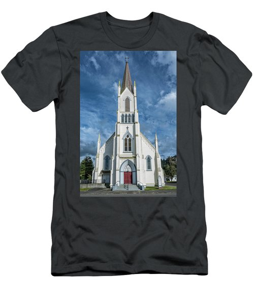 Men's T-Shirt (Slim Fit) featuring the photograph Ferndale Catholic Church by Greg Nyquist