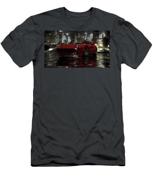 Men's T-Shirt (Slim Fit) featuring the photograph Ferrari F12berlinetta by Louis Ferreira
