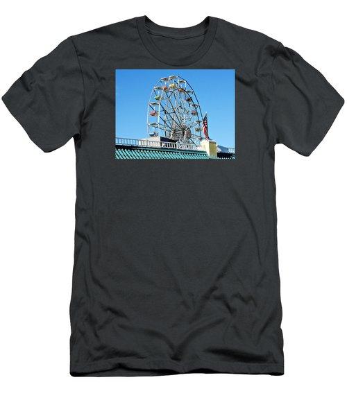 Ferris Wheel Men's T-Shirt (Slim Fit) by Allen Beilschmidt