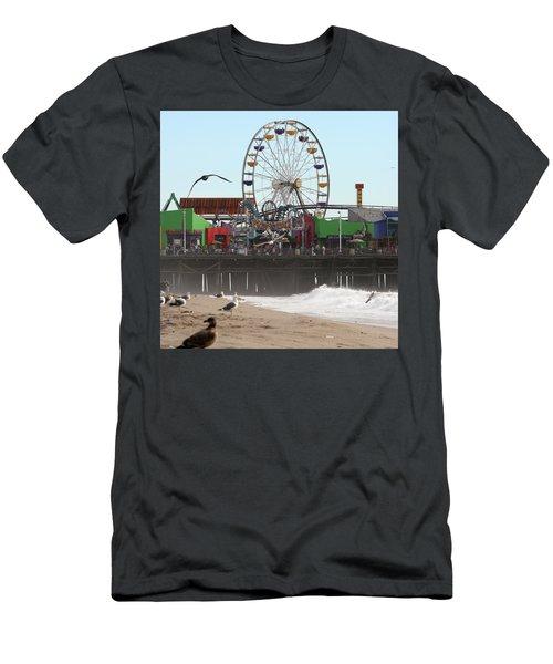 Ferris Wheel At Santa Monica Pier Men's T-Shirt (Athletic Fit)