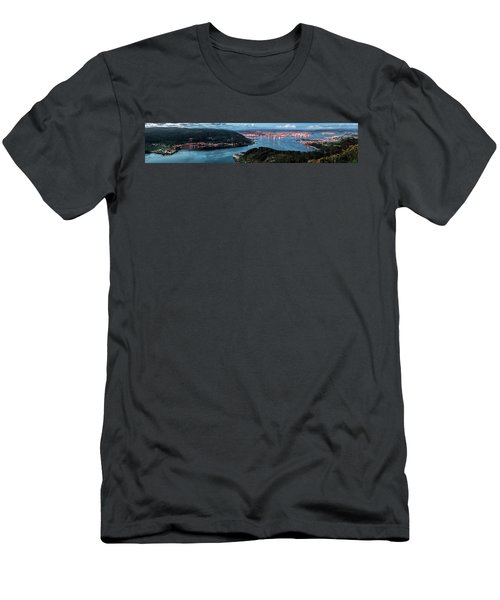 Ferrol's Estuary Panorama From La Bailadora Galicia Spain Men's T-Shirt (Athletic Fit)