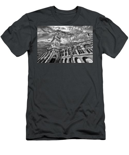 Ferry Building Black  White Men's T-Shirt (Athletic Fit)