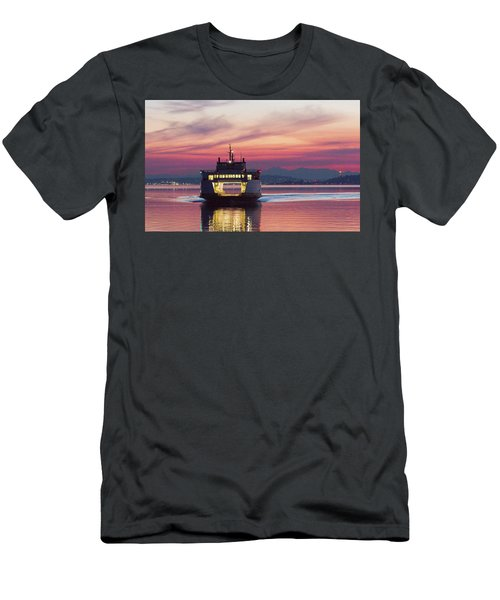 Ferry Issaquah Docking At Dawn Men's T-Shirt (Athletic Fit)