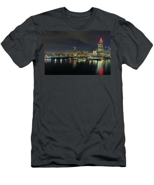Ferry Terminal In Vancouver Bc At Night Men's T-Shirt (Athletic Fit)
