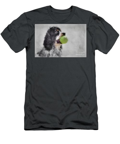 Men's T-Shirt (Slim Fit) featuring the photograph Fetching Cocker Spaniel  by Benanne Stiens
