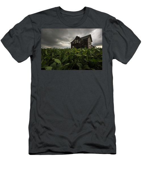 Men's T-Shirt (Slim Fit) featuring the photograph Field Of Beans/dreams by Aaron J Groen