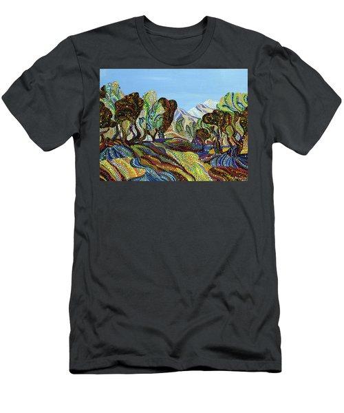 Fields Of Gold  Men's T-Shirt (Slim Fit) by Erika Pochybova