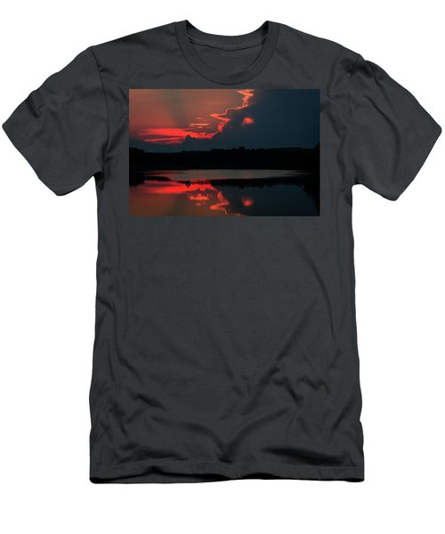 Fiery Evening Men's T-Shirt (Athletic Fit)
