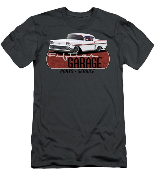 Fifties Hot Rod Garage Men's T-Shirt (Athletic Fit)