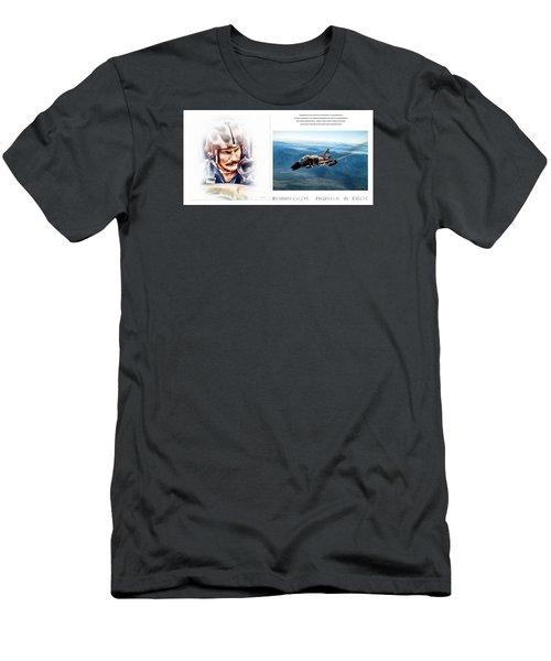 Robin Olds Fighter Pilot Men's T-Shirt (Athletic Fit)