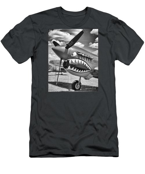 Men's T-Shirt (Slim Fit) featuring the photograph Fighting Tiger by Ricky L Jones