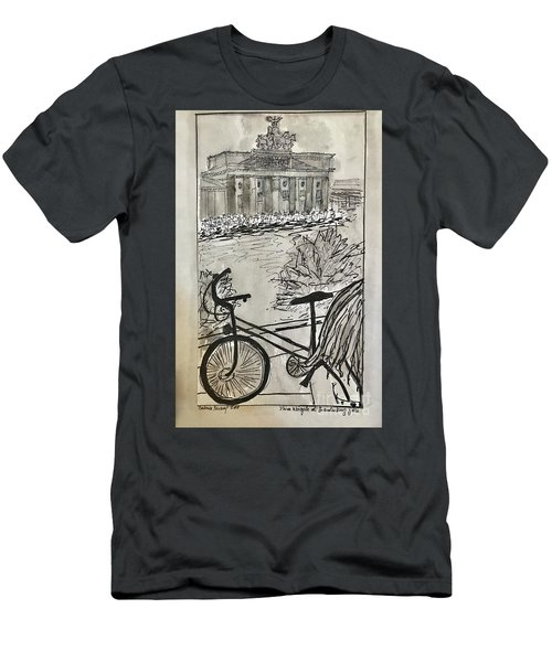 Fina And Bicycle At Brandenburg Gate Men's T-Shirt (Athletic Fit)
