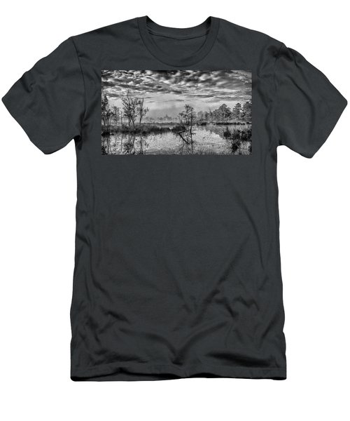 Fine Art Jersey Pines Landscape Men's T-Shirt (Athletic Fit)