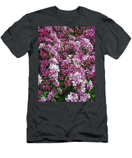 Men's T-Shirt (Athletic Fit) featuring the photograph Fine Wine Cafe Beautiful Blossoms by Aimee L Maher Photography and Art Visit ALMGallerydotcom