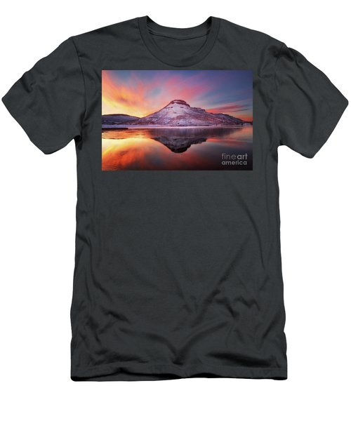 Fire And Ice - Flatiron Reservoir, Loveland Colorado Men's T-Shirt (Slim Fit) by Ronda Kimbrow