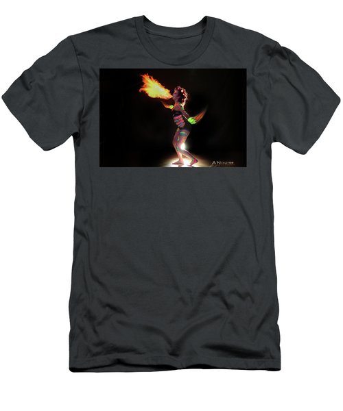 Fire Blowin Men's T-Shirt (Slim Fit) by Andrew Nourse