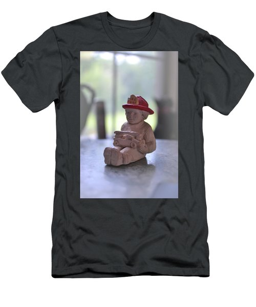 Fire Chief Molded Stone Men's T-Shirt (Athletic Fit)
