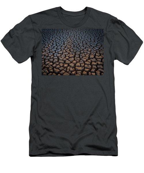 Fire Cracks Men's T-Shirt (Athletic Fit)