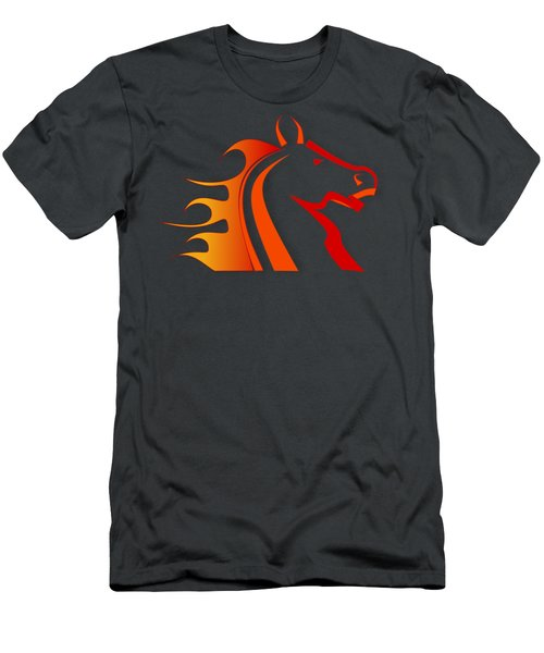 Fire Horse Men's T-Shirt (Athletic Fit)