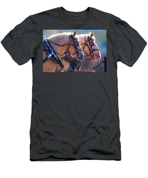 Fire Horses Men's T-Shirt (Athletic Fit)