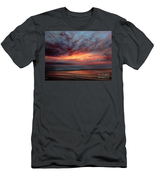 Fire In The Sky Men's T-Shirt (Slim Fit) by Valerie Travers