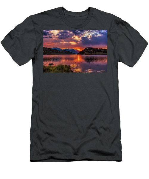 Fire On The Water Reflections Men's T-Shirt (Athletic Fit)