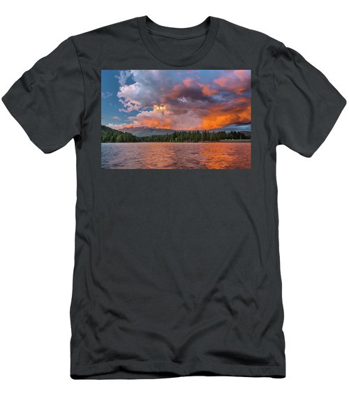 Fire Sunset Over Shasta Men's T-Shirt (Athletic Fit)