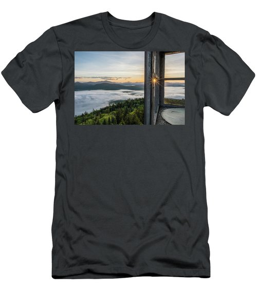 Fire Tower Sunburst Men's T-Shirt (Athletic Fit)