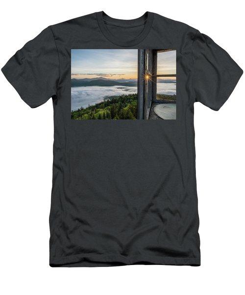 Fire Tower Sunburst Men's T-Shirt (Athletic Fit)