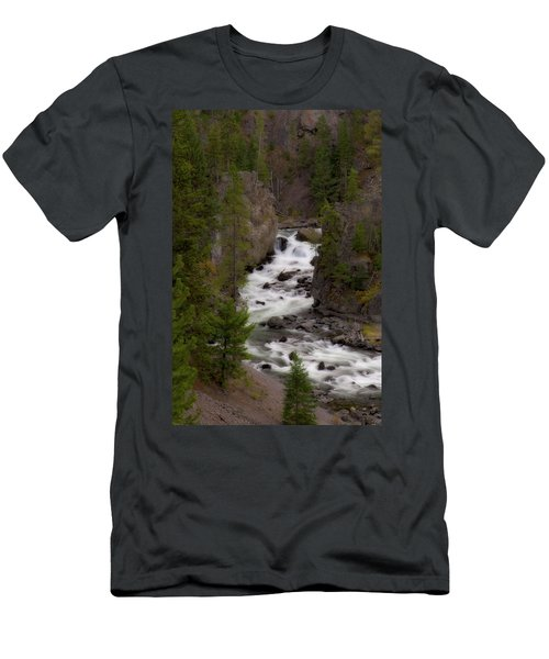 Men's T-Shirt (Slim Fit) featuring the photograph Firehole Canyon by Steve Stuller