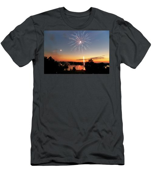 Fireworks And Sunset Men's T-Shirt (Athletic Fit)