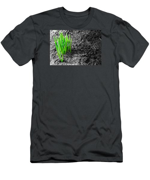 First Green Shoots Of Spring And Dirt Men's T-Shirt (Slim Fit) by John Williams