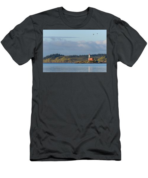 Fisgard Lighthouse At Dawn Men's T-Shirt (Athletic Fit)