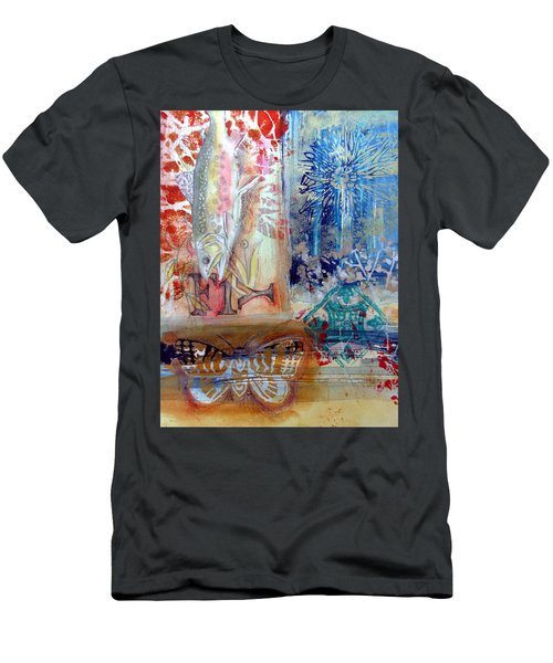 Men's T-Shirt (Athletic Fit) featuring the mixed media Fish Collage #1 by Rose Legge