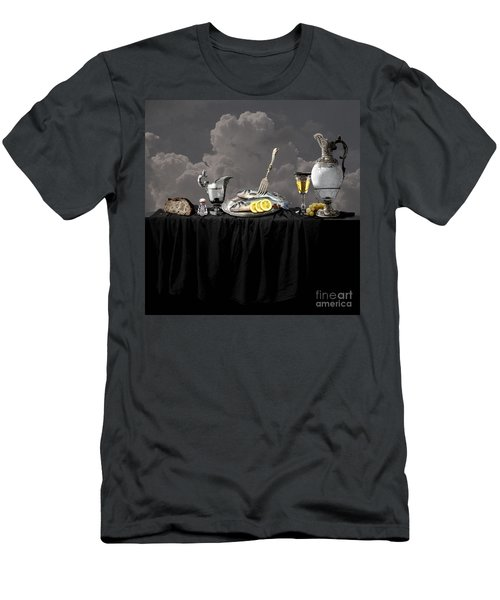 Fish Diner In Silver Men's T-Shirt (Athletic Fit)
