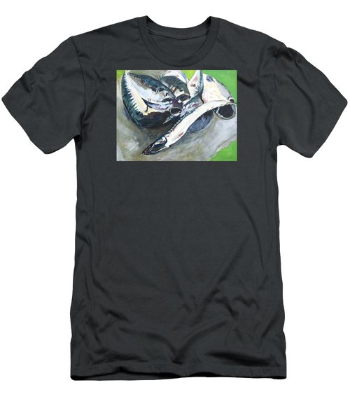 Fish On A Table Men's T-Shirt (Athletic Fit)