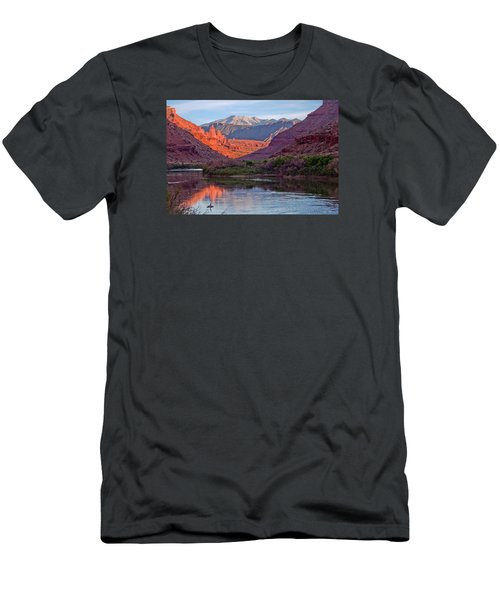 Fisher Towers Sunset Reflection Men's T-Shirt (Athletic Fit)
