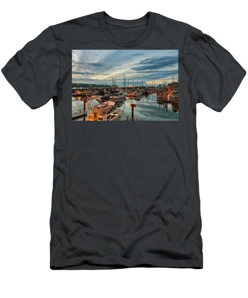 Men's T-Shirt (Slim Fit) featuring the photograph Fishermans Wharf by Randy Hall