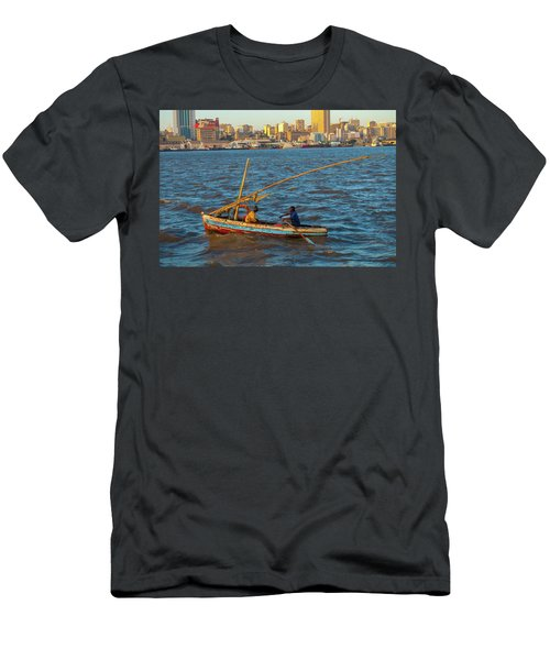 Fishermen Rowing Near Maputo Men's T-Shirt (Athletic Fit)