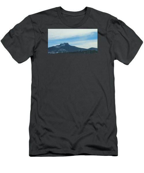 Fishers Peak Raton Mesa In Snow Men's T-Shirt (Slim Fit) by Christopher Kirby